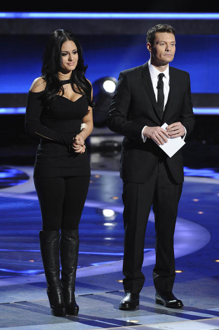 Pia Toscano and Ryan Seacrest