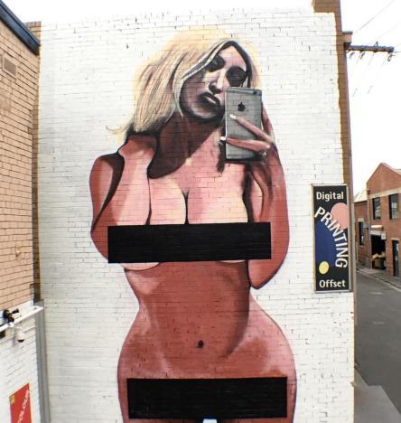 mural of kim