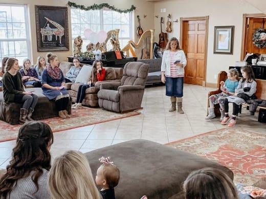Michelle Duggar Speaks at Abbie Burnett Baby Shower