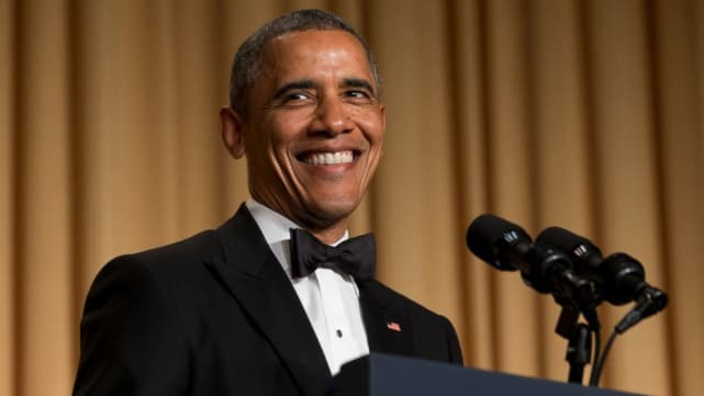 Obama at the white house correspondents dinner