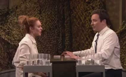 Lindsay Lohan-Jimmy Fallon Fight Gets Both All Wet: Watch the Video Now!