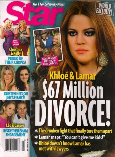 Khloe Kardashian and Lamar Odom Divorce Story