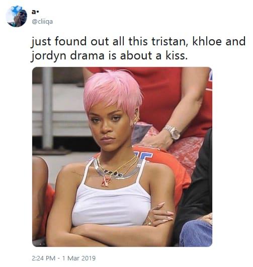 Khloe vs jordyn and jada tweet 03 only a kiss