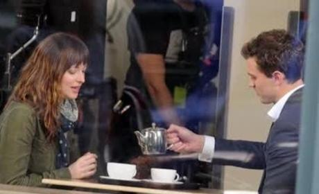 Dakota Johnson and Jamie Dornan Begin Filming Fifty Shades Of Grey