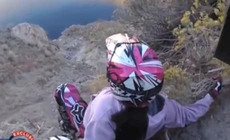 ATV Rider Nearly Plunges Over Cliff