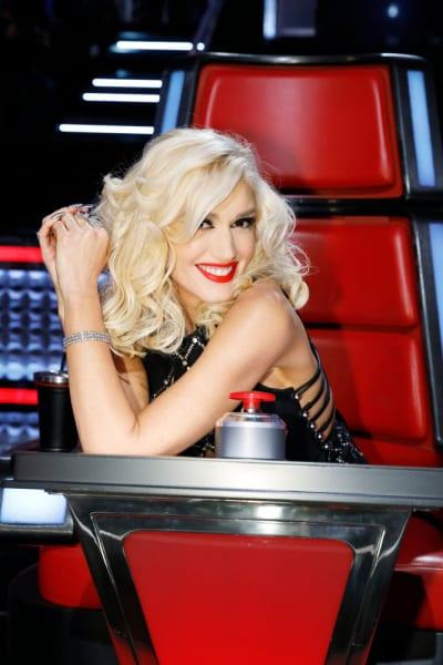 Gwen Smiles on The Voice