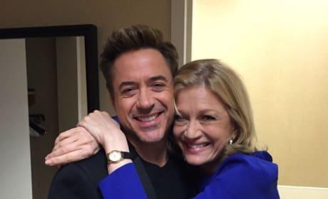 Robert Downey, Jr. and Diane Sawyer