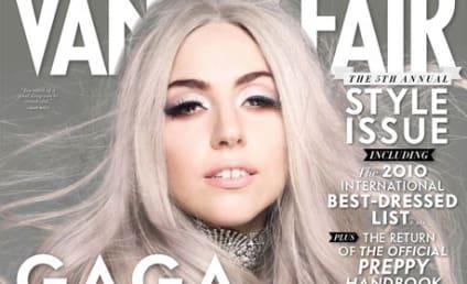Lady Gaga in Vanity Fair: Gray-Haired, Gregarious