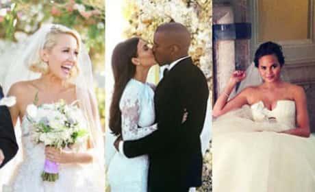 32 Celebrity Wedding Dresses We Love