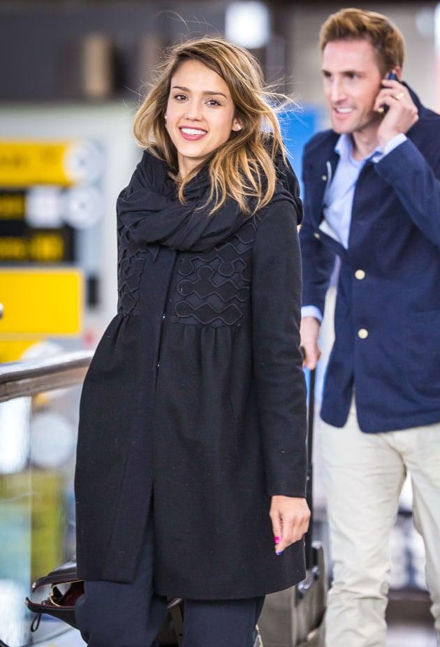Jessica Alba at JFK