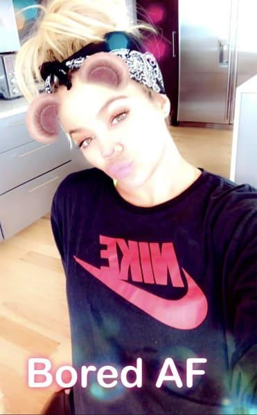 Khloe Kardashian is Bored