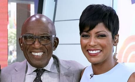 Al Roker and Tamron Hall on Set