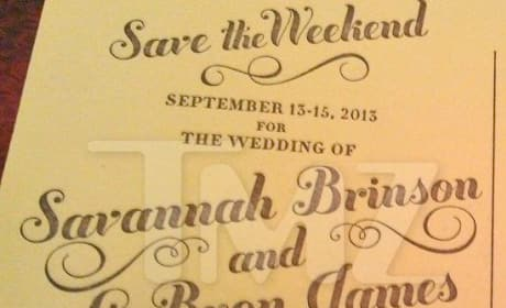 LeBron James Wedding Invite Photo