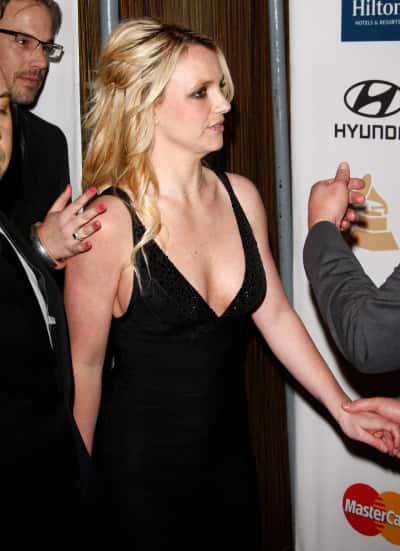 Britney Spears in a Black Dress
