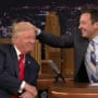 Jimmy fallon tussles donald trumps hair