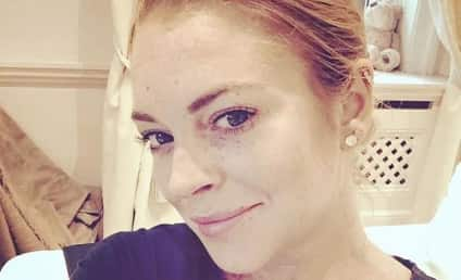 Lindsay Lohan Posts Makeup-Free Selfie, Remains Freckly