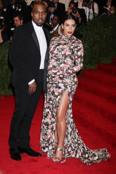 Kim Kardashian and Kanye West at MET Gala