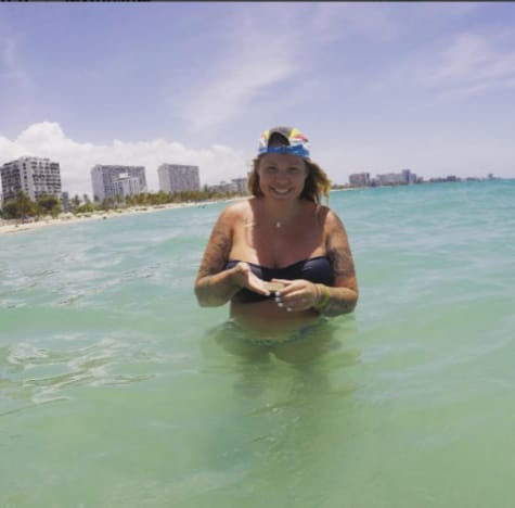 Kailyn Lowry in the Ocean
