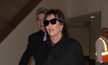 Kris Jenner: Caped At LAX