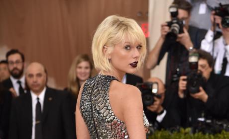 Taylor Swift: Backshot at the 2016 Costume Institute Gala