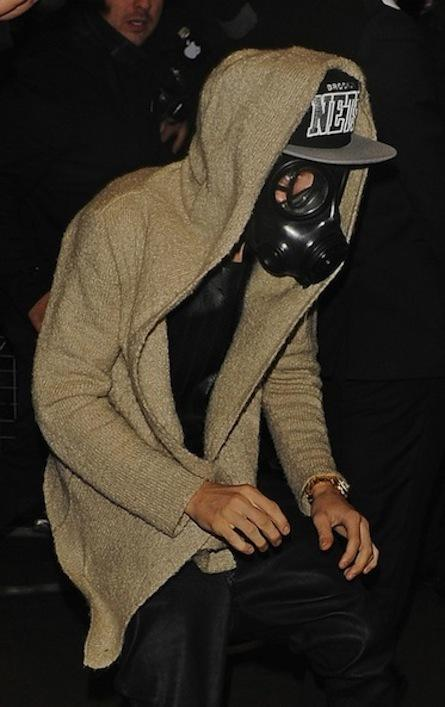 Justin Bieber Gas Mask Picture