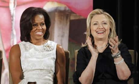 Hillary and Michelle
