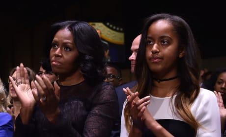 Malia Obama and Michelle Obama
