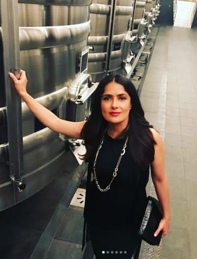 Salma Hayek in Black