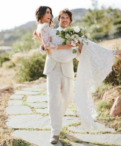 Ian Somerhalder Wedding Photo