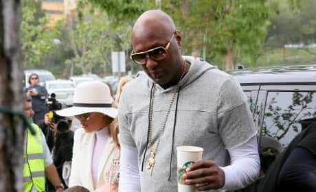 Lamar Odom, Khloe Kardashian on Easter Sunday