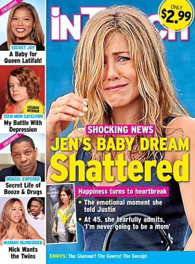 Jennifer Aniston's Baby Dream Shattered!