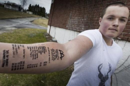 McDonald's Receipt Tattoo