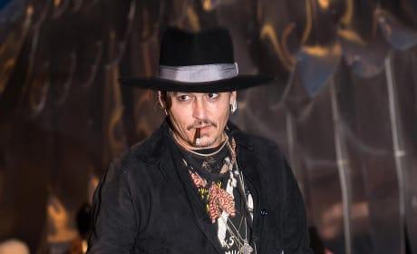 Johnny Depp in Great Britan