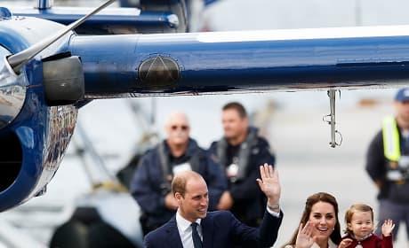 Will Kate George Charlotte Wave Goodbye Victoria