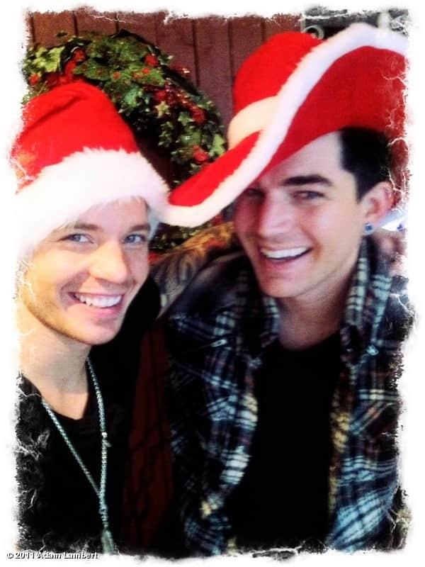 Adam Lambert and Sauli Koskinen on Christmas Eve