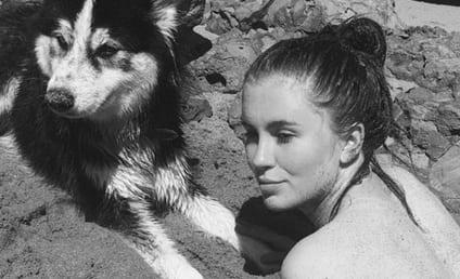 Ireland Baldwin Goes Topless, Plays with Dog