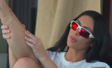Kim Kardashian's Leg Bite