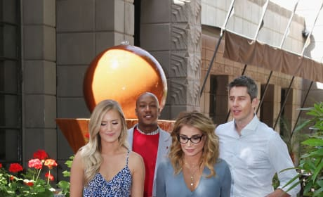 Arie Luyendyk Jr. and Lauren Burnham with Marriage Boot Camp Counselors