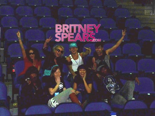 Britney Back Stage