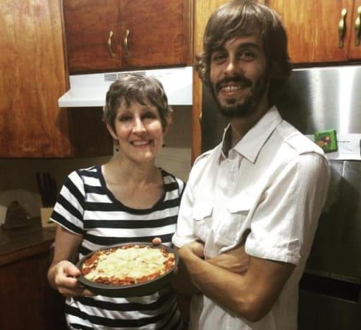Derick Dillard and His Mother