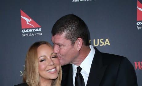James Packer Kisses Mariah Carey
