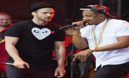 "Jay-Z and Justin Timberlake Debut ""Holy Grail"" in England"