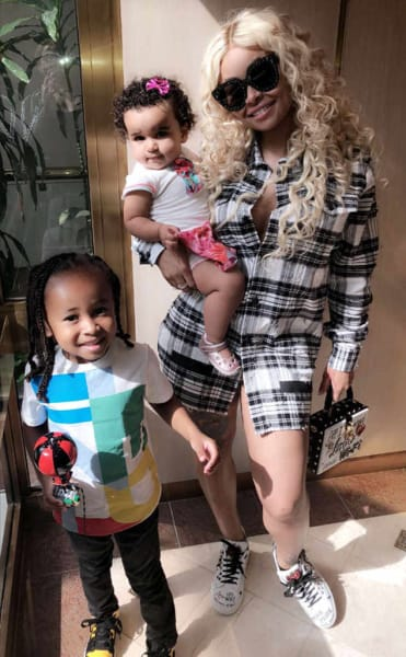Blac Chyna with Kids
