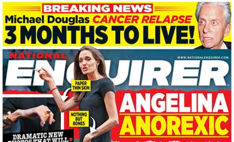 Angelina Jolie's Frail Frame On The Cover of 'National Enquirer'