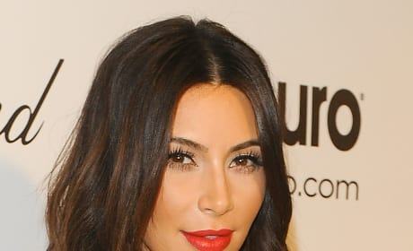 Kim Kardashian in Red