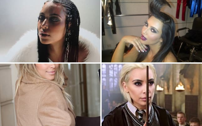 Kim kardashian cornrows photo