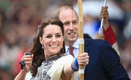 Kate Middleton Fires an Arrow in Bhutan