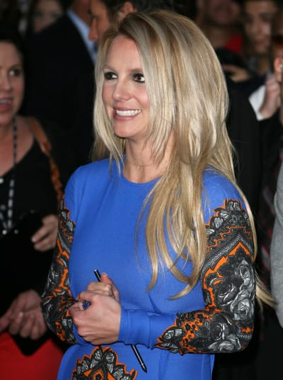 Smiling Britney Spears