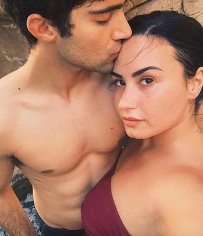 Max Ehrich and Demi Lovato Throwback