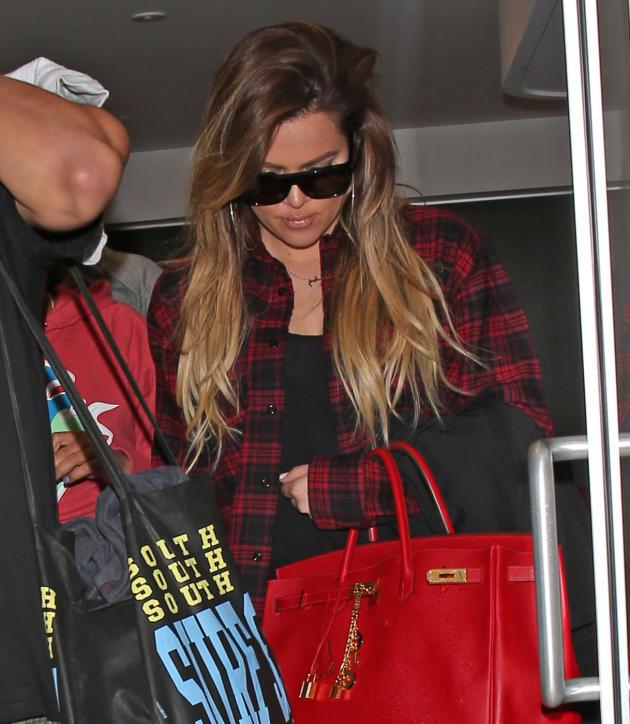 Khloe Kardashian with a Necklace